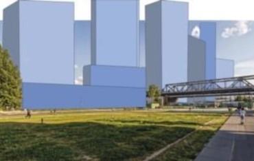 3D-Grafik der Planung Urbane Mitte