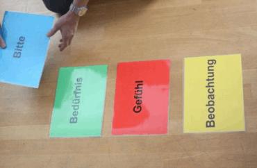 Karten mit den Kommunikationsbotschaften