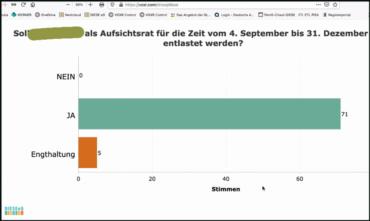 Screenshot Ergebnis Abstimmung
