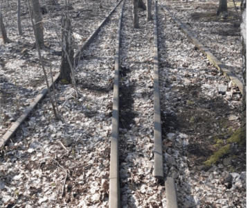 Gleise im Gleisdreieckpark